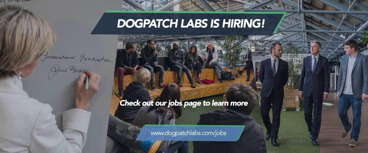 We're #hiring! We're looking for a new Programme Manager to deliver world-class innovation programmes at Dogpatch Labs. Find out more: dogpatch.click/PM