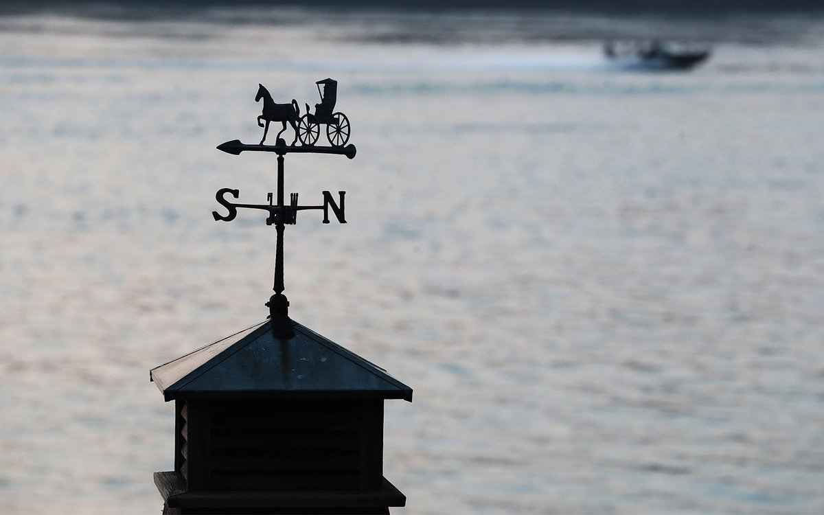 Buffalo News Photo On Twitter A Weather Vane Is Silhouetted Against The Niagara River In Lewiston Everydayaphoto By Sharoncantillon Https T Co Mncwuvzlif Https T Co Iqwilpjxyk