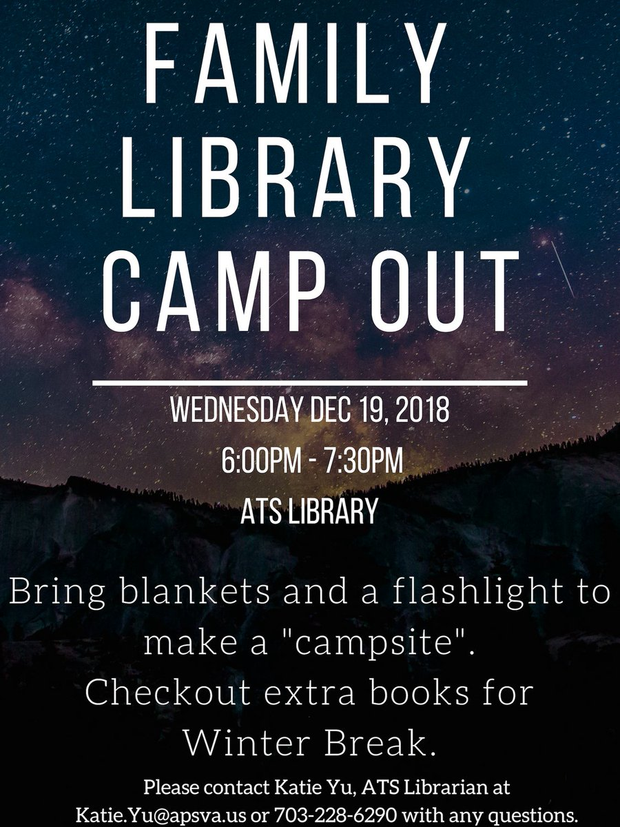 """Join us Wed 12/19 from 6-7:30pm for our first ever Library Family Camp Out! Pick out a book, build a """"campsite"""