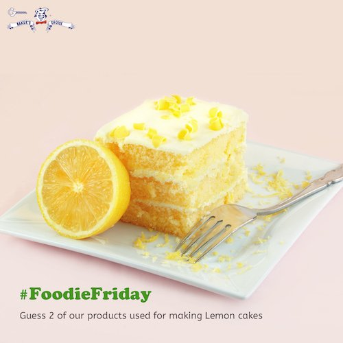 Before you excite your taste buds with some yummy goodness, whether cakes or pies...can you mention 2 #BakersChoice products used for making lemon cakes? #BakersChoice #Trivia #Baking #Friyay #FridayFunday #BakersChoiceTrivia<br>http://pic.twitter.com/eJOLY7hO7w