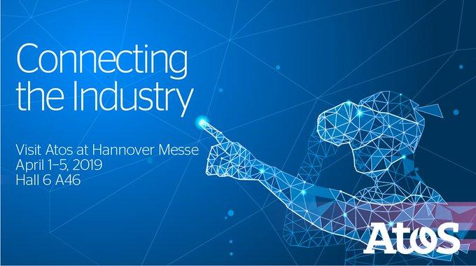 Treffen Sie Atos @hannover_messe 2019 mit Live Demos zur integrierten digitalen Fabrik und...