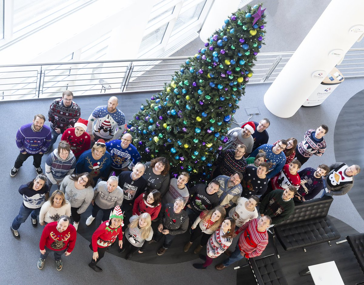 THANKS to the lovely people @hornby @Airfix @Scalextric Head Office for taking part in our Christmas Jumper Day today - you all look FABULOUS! #MissionChristmasJumpers 🎅