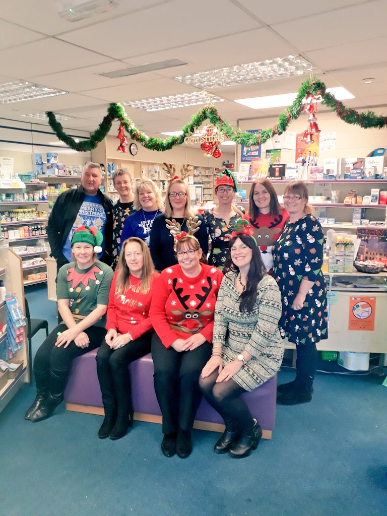 @PlayGemRadio, Masons Chemist in Coalville, Christmas Jumper Day