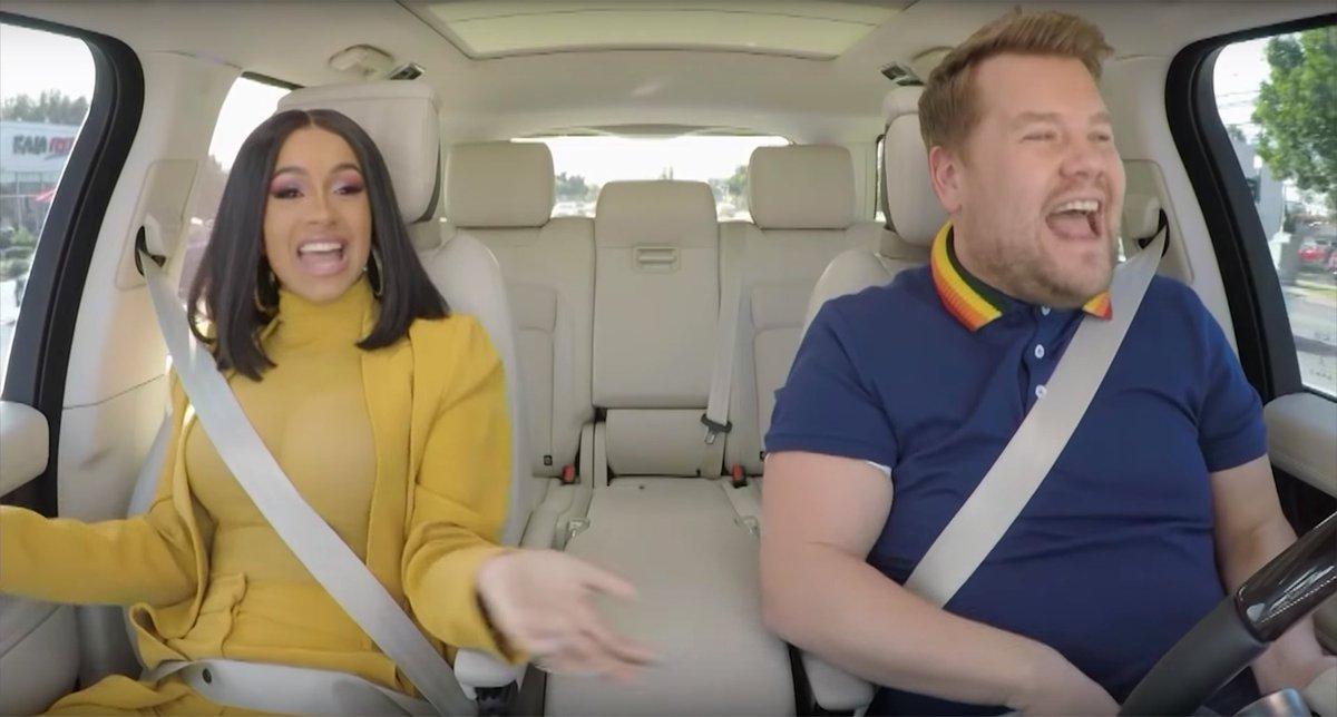 Cardi B's upcoming 'Carpool Karaoke' segment looks as eventful as we'd hope, watch the teaser: https://t.co/5k8oPAppri