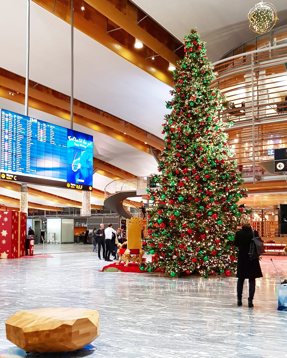 Christmas decorations at Oslo airport 🎅🌲❤  #OSL #VisitOslo #Norway