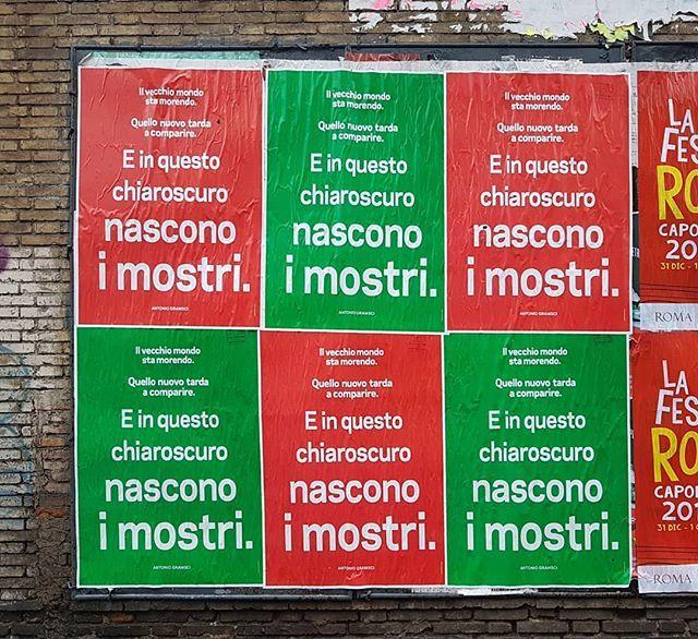 #AlfredoJaar #Chiaroscuro #poster #PublicArt #LaStrada #TheStreet @museomaxxi #Rome #ContemporaryArt #AntonioGramsci https://t.co/bQfRFpEoPM