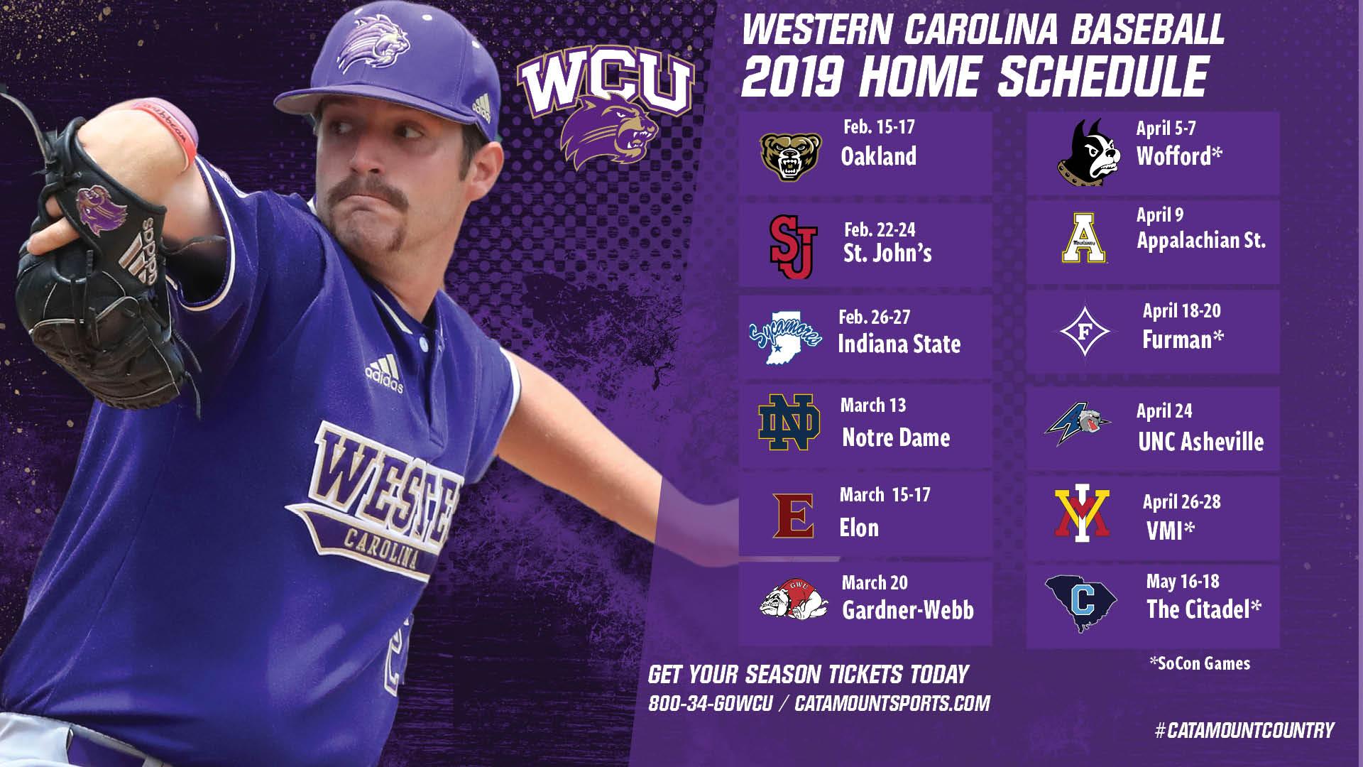 2019 WCU Baseball Schedule