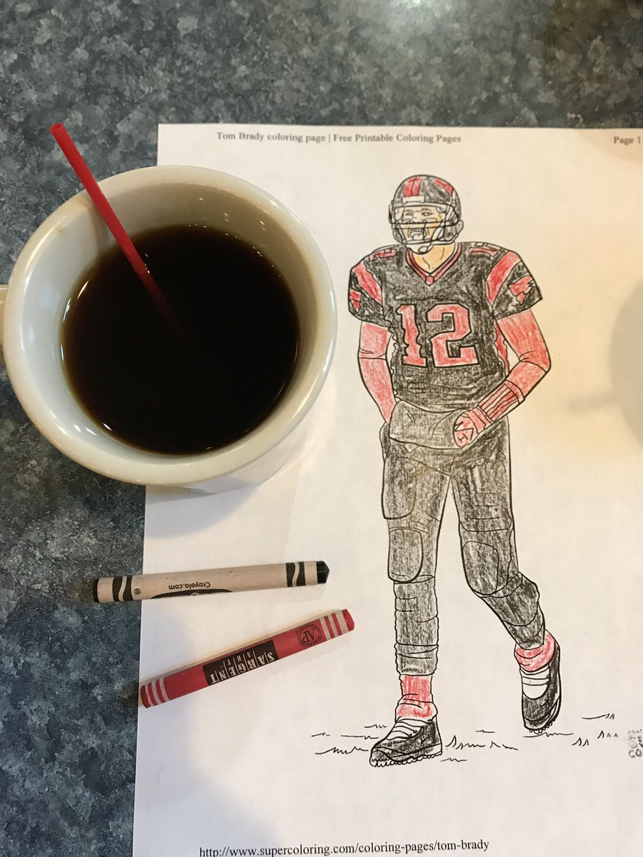 Tom Brady Coloring page | Football coloring pages, Coloring pages ... | 1200x900
