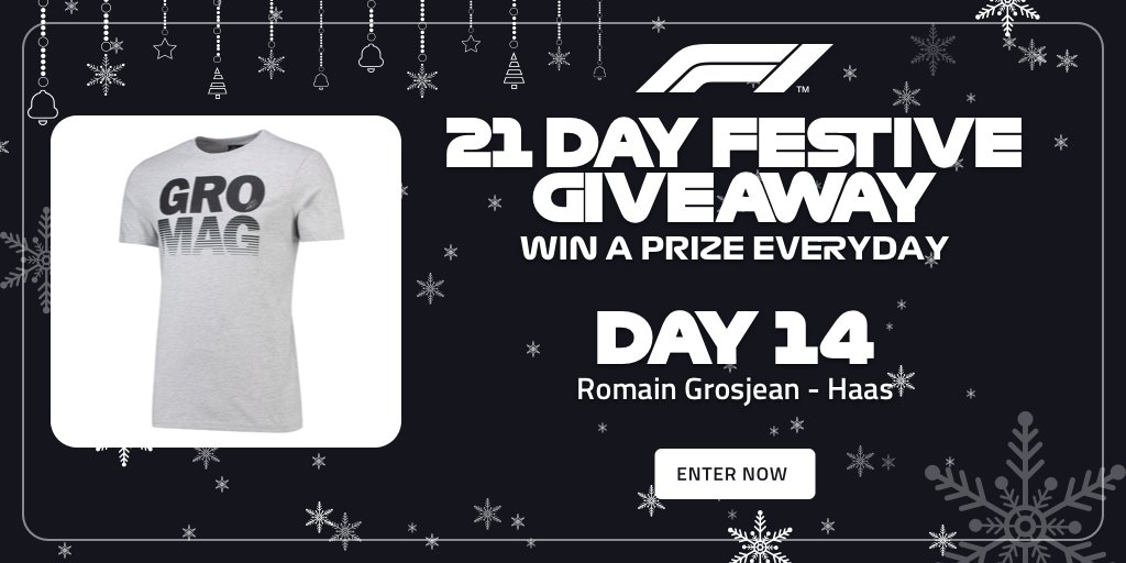 Its Day 14 of our #F1FestiveGiveaway! Surely it Haas to be worth a go 😉 You could win this t-shirt from the F1 Store, as well as a chance to win a pair of Paddock Club tickets to a 2019 race >> f1.com/FestiveGiveaway