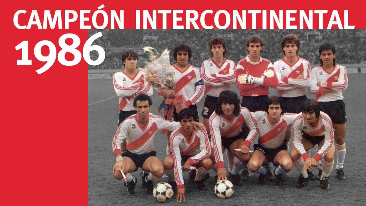 🔙 #Efemérides  🇦🇷 River 1 - Steaua Bucarest 0 🇷🇴   🏆 El 14 de diciembre de 1986, el Millonario conseguía la Copa Intercontinental en Japón ⚪️🔴⚪️