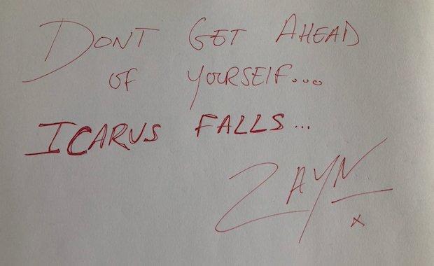 Wise words from @zaynmalik himself ☀️ Listen to the new album #ICARUSFALLS now. https://t.co/RMRphKzJ8z