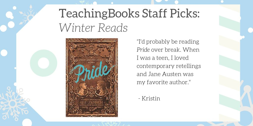 "test Twitter Media - We asked TeachingBooks Staff, ""What would you read over winter break if you were a kid?""  Kristin picked the retelling of Pride! Enjoy a snippet and resources: https://t.co/f8AXDwTDw8  #TBStaffPicks #WinterReads  @HarperCollinsCh  @ibizoboi https://t.co/iyIRP3SYXq"