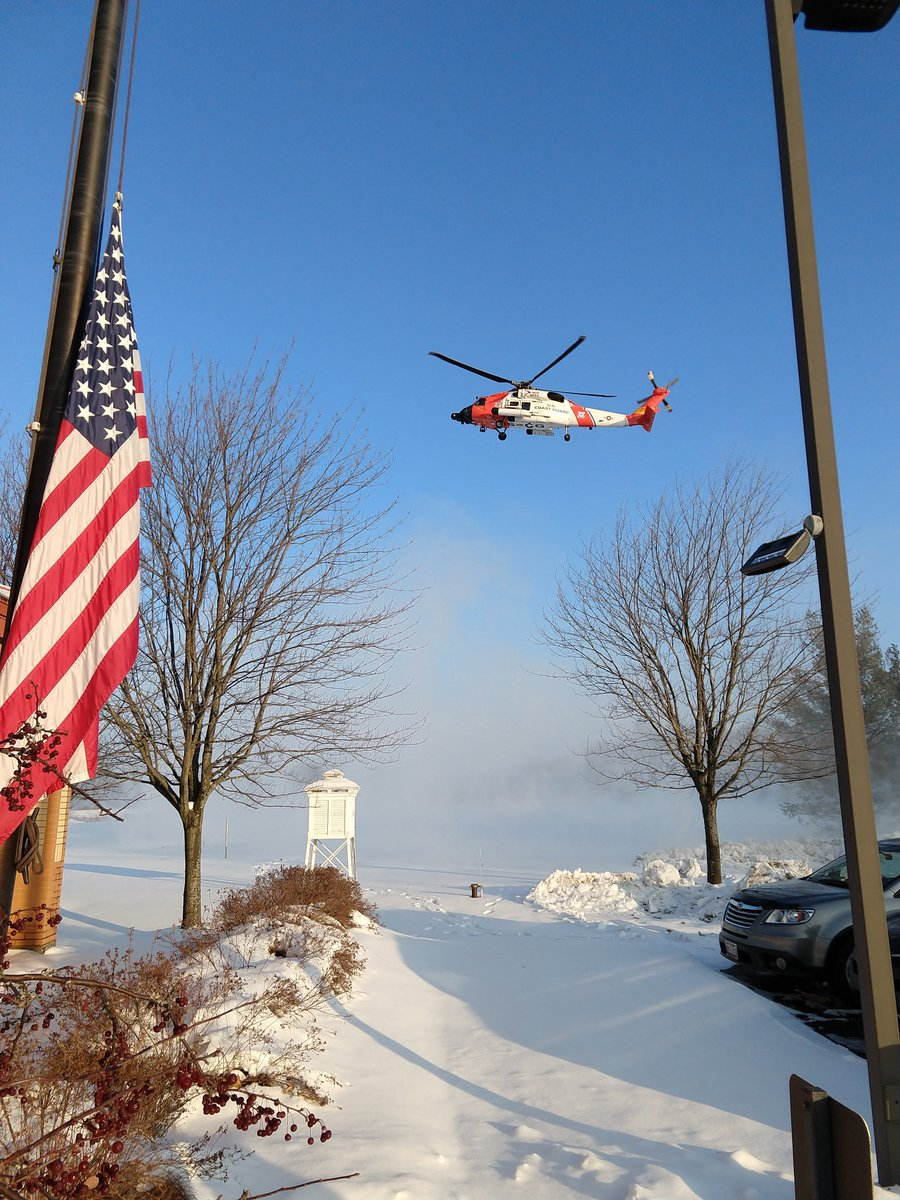 Had visitors at the office this morning from Coast Guard Air Station Traverse City. A few forecasters from the office are currently on a familiarization flight to learn about the operations/needs of one of our Core Partners.