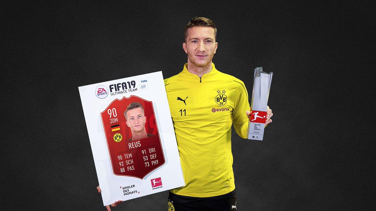 """Dritter Monat, zweite Auszeichnung: Die überragende Saison für @woodyinho wird durch den """"Spieler des Monats""""-Award im November nochmals gekrönt. Gratulation an den @BVB-Star! 👏👏👏 #FIFA19 #BUNDESLIGAPOTM @EAFussball"""