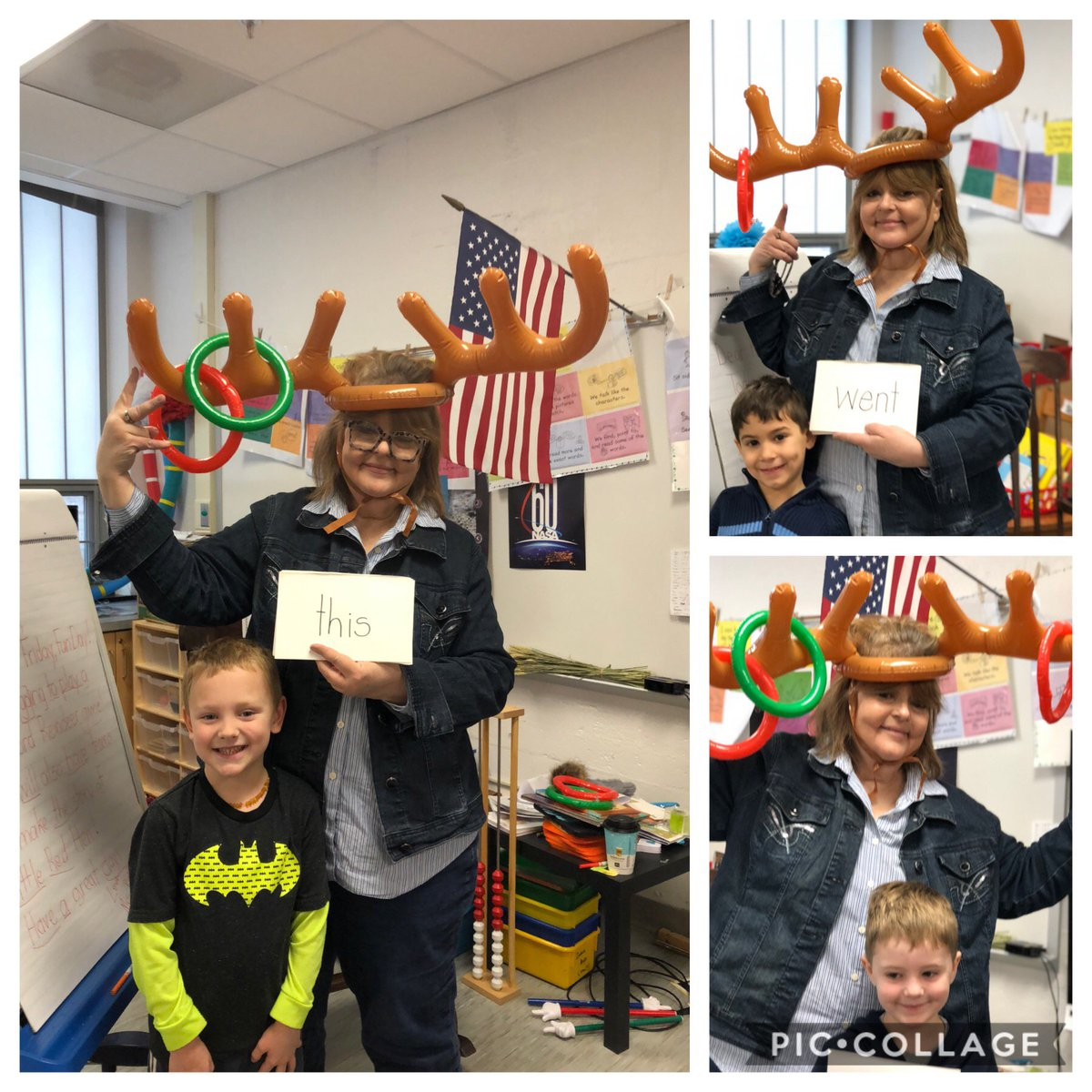 It's time for Reindeer Games! We commence with Reindeer snap word ring toss! These super readers managed to get the ring on the antlers! Way to go! <a target='_blank' href='https://t.co/cu1mf5kdyo'>https://t.co/cu1mf5kdyo</a>