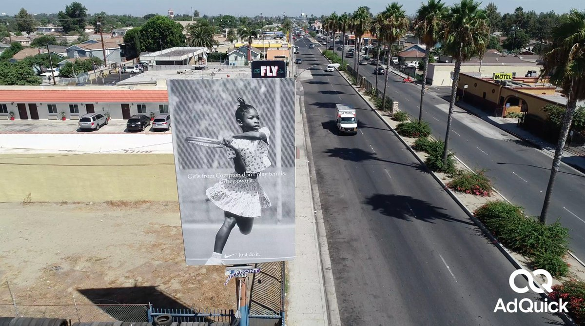 What was your favorite ad campaign of 2018? Mine was this @Nike billboard just .5 miles from @serenawilliams childhood home in Compton, CA.