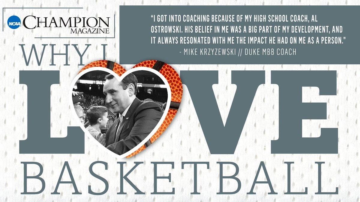 Coach K shares why he loves basketball: https://on.ncaa.com/2QPlnGQ