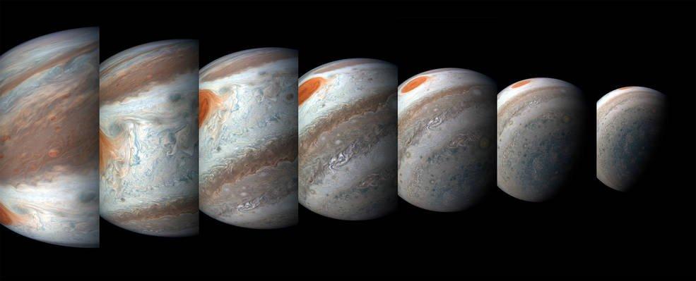 Imagens de missão em Júpiter revelam tempestades polares gigantes no planeta → https://t.co/58cpfBAwZX