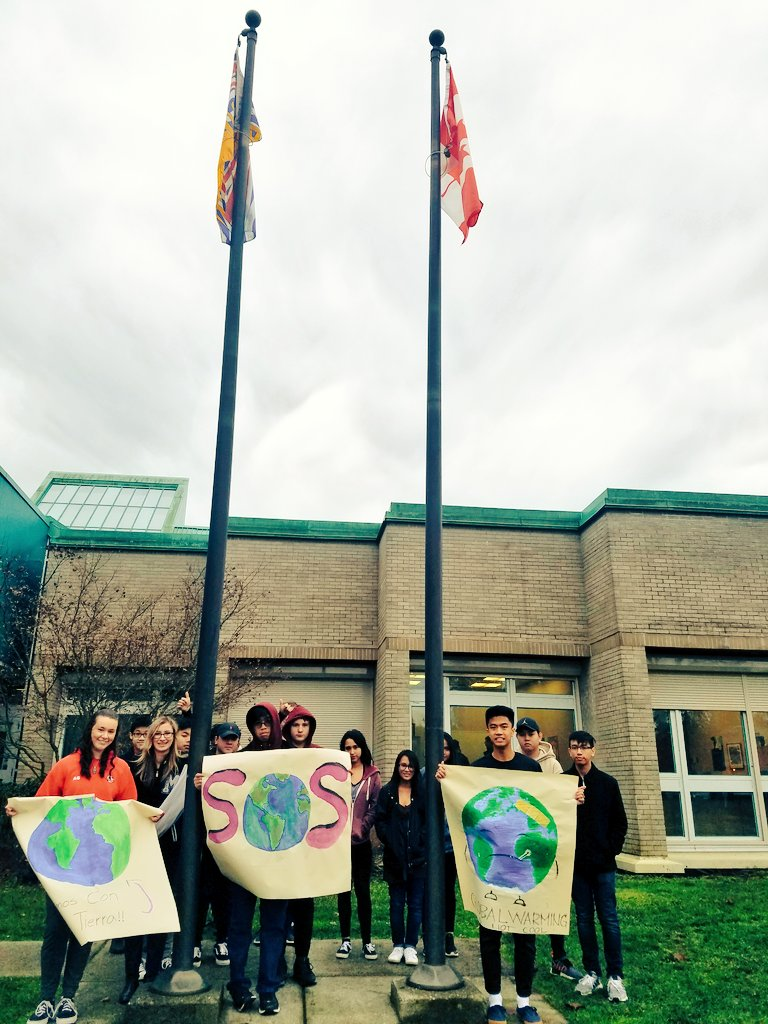 On #ClimateStrike today in BC, Canada, standing in solidarity with @gretathunberg who is on her 17th week of striking for the climate.  Students r on the right side of history. Which side will you have been on when ur children start gasping for breath?  #FridaysForFuture #COP24