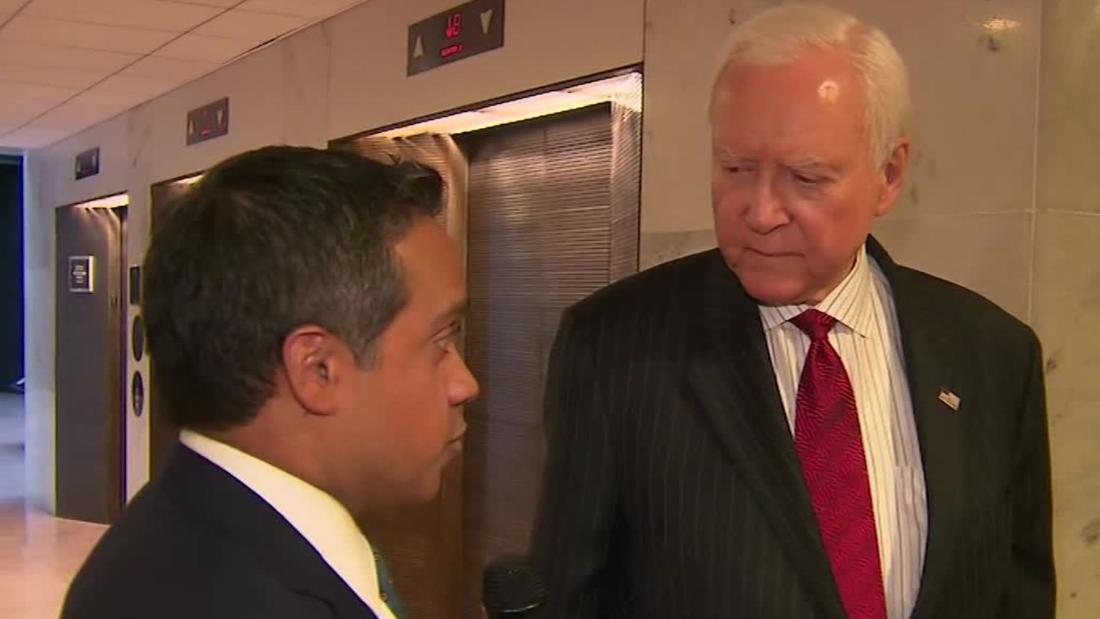 """Republican Sen. Orrin Hatch says he regrets telling CNN """"I don't care"""" when asked about Trump being implicated in crimes by Michael Cohen https://cnn.it/2SMv99V"""