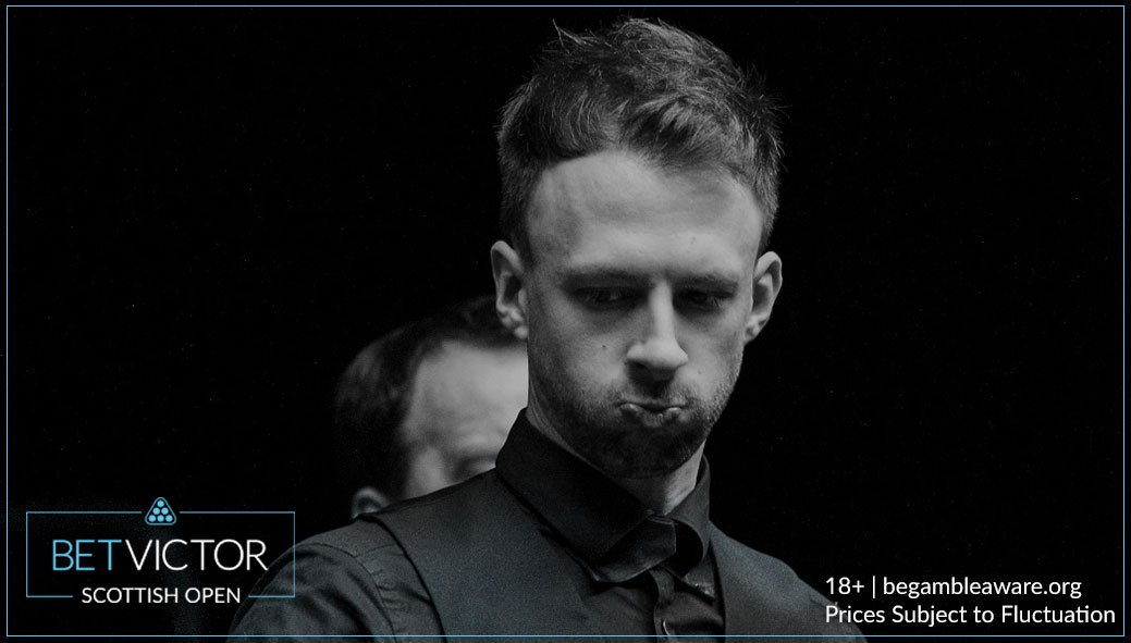 Judd Trump looked to be cruising through to the semi-final after a 101 break put him 2 frames up.  But a missed blue allowed Carrington in before the break to level things at 2 frames apiece.
