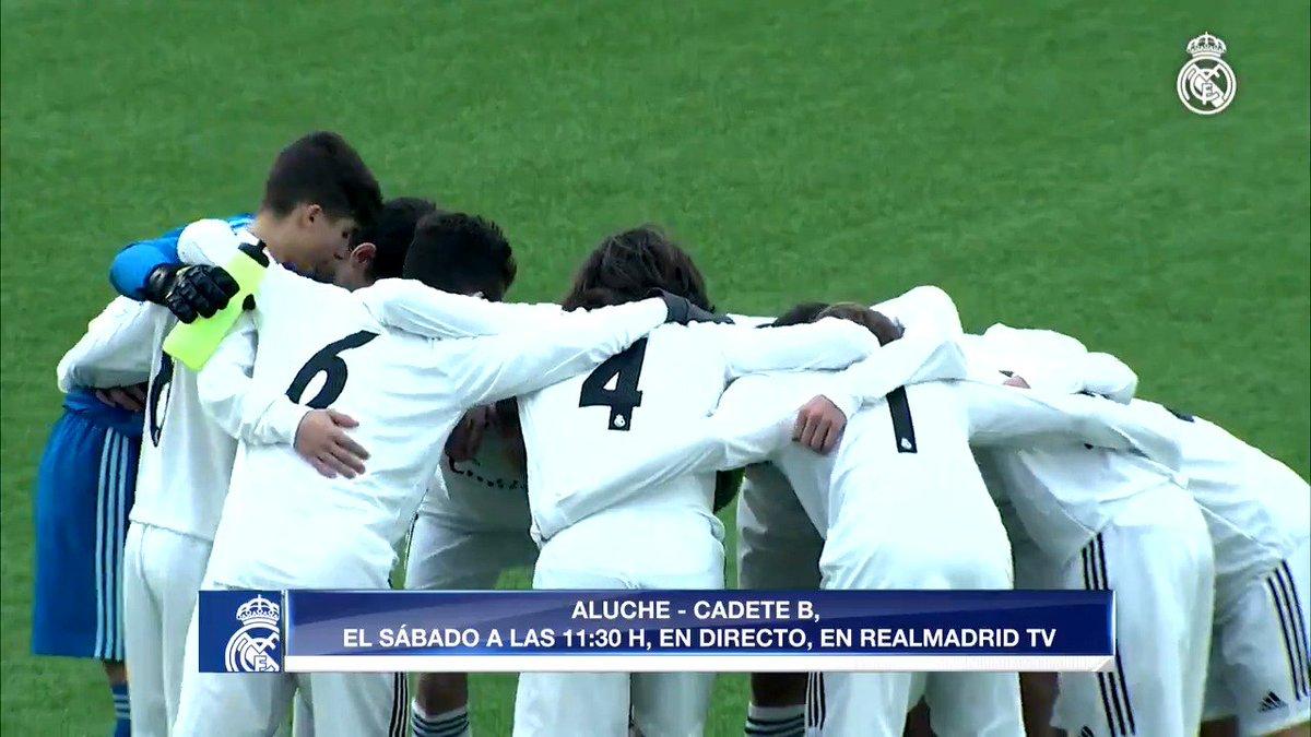 Retweet from lafabricacrm: ⚽ Partidos de #LaFábrica para este fin de semana. 📽 ¡Síguelos en DIRECT🔴 por #RMTV! #HalaMadrid