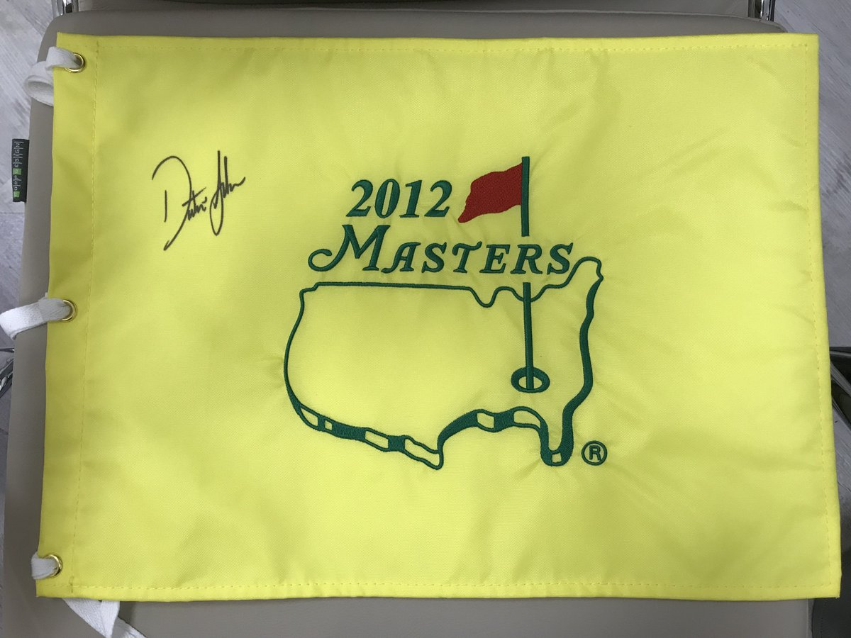 Giving away this signed flag from the 2012 Masters. I'll pick one person who RTs this tweet and follows my golf school (@dustinjohnsongolfschool) on Instagram.   Follow it here: https://t.co/4HIeBgTDq6