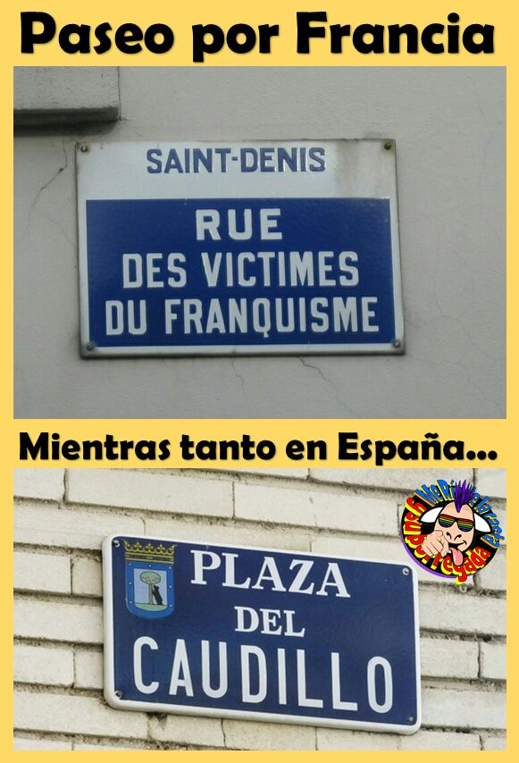 In France, they remember and honor the victims of #Franco, in #Spain, they remember and honor #Franco. Think about it! #DemocràciaAra #FreeCatalanPoliticalPrisonersAndExiles