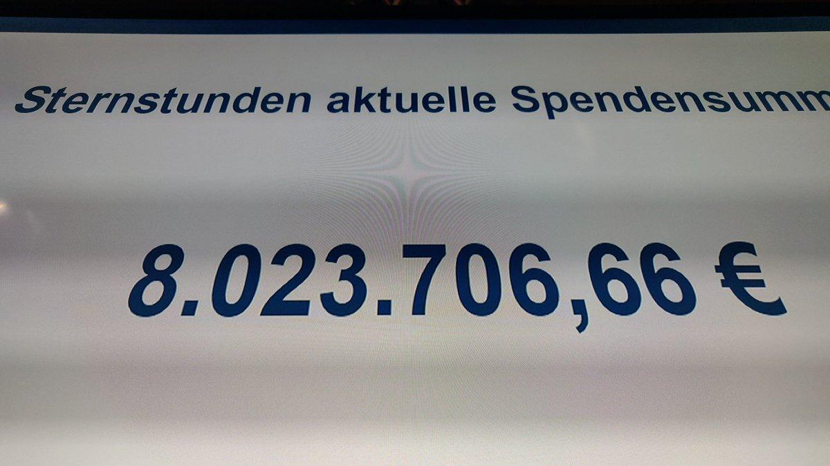 8 Millionen Euro gespendet! Mir wern #narrisch! 😆💪👍 #Sternstundentag