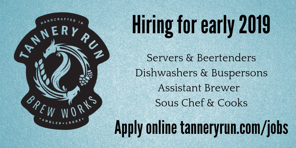 Tannery Run On Twitter Tannery Run Is Now Hiring For Early 2019