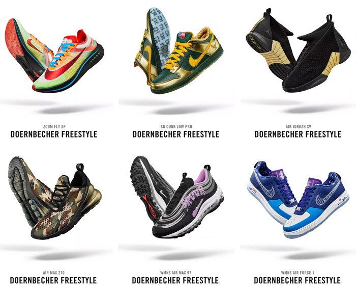 50494525334fd9 12 PM ET (noon) via Nike SNKRS for the NEW Doernbecher Freestyle 2018  Collection https   swoo.sh 2nzkd4Q pic.twitter.com P6iwp3djBn