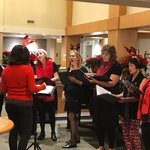 The Jazza Girls brought their festive sounds to Augustine House this week! We're so thankful for all the wonderful entertainment we're enjoying this season! 🎄😀 #augustinehouse #Christmasmusic #jazzagirls #holidaymusic #forbetterretirementliving #MerryChristmasEveryone