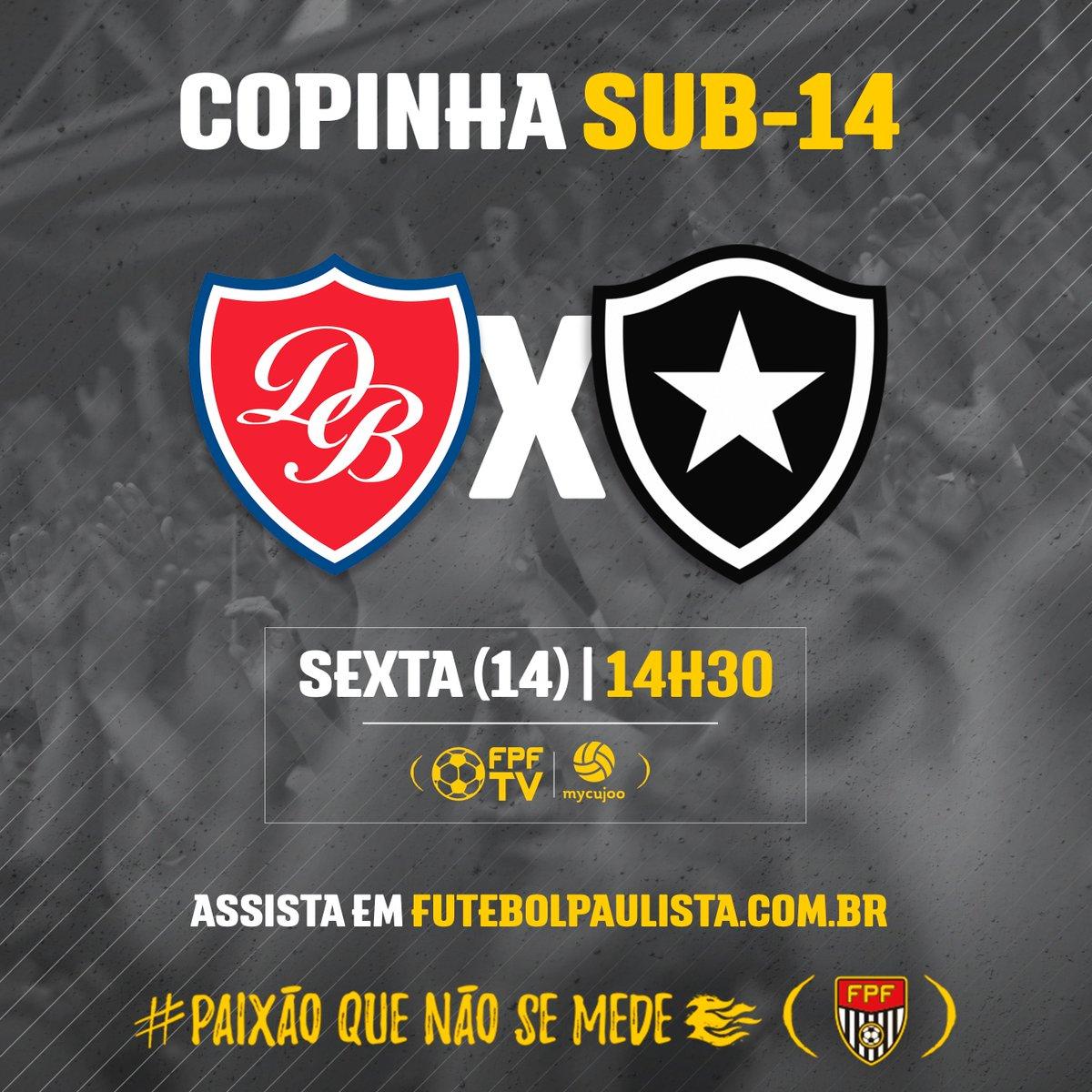 Pela Copinha Sub-14, Desportivo Brasil e Botafogo-RJ se enfrentam com transmissão AO VIVO da FPF TV! Link do jogo 👉 https://t.co/jUUgDVBzn0 #FPF #EsseÉoMeuJogo #FutebolPaulista #PaixãoQueNãoSeMede