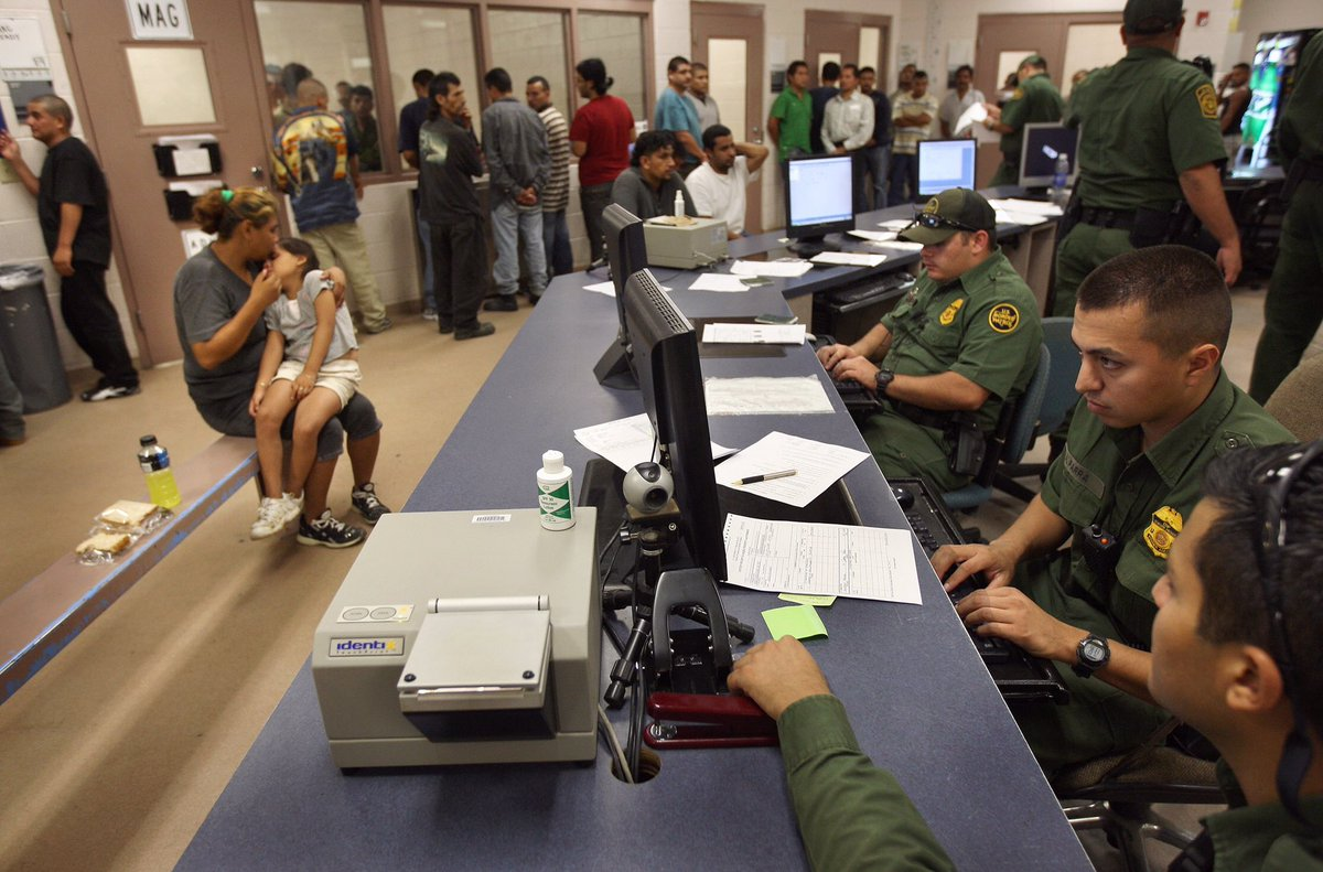 """US Border Patrol processing centers are often referred to by migrants as """"hieleras"""" - ice boxes. After a Guatemalan girl, 7, died of dehydration after being taken into BP custody, facilities and procedures are under review. #gettyimages #archive #gettyimagesnews #Immigration"""