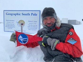 Capt Lou Rudd reached the South Pole today after 41days on the ice. He's manhauled 564miles of his epic quest to be the first man to cross Antarctica solo&unsupported.'Onwards' Lou. No greater or inspiring demo of courage, endurance & self-reliance @BritishArmy #SpiritofEndurance