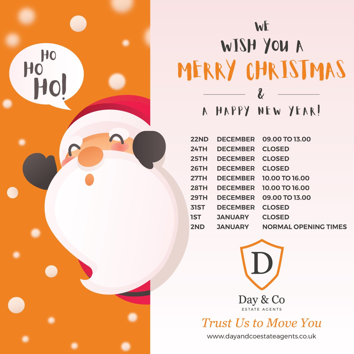 Bit more design work for Day & Co Estate Agents this week. #design #christmas #estateagent