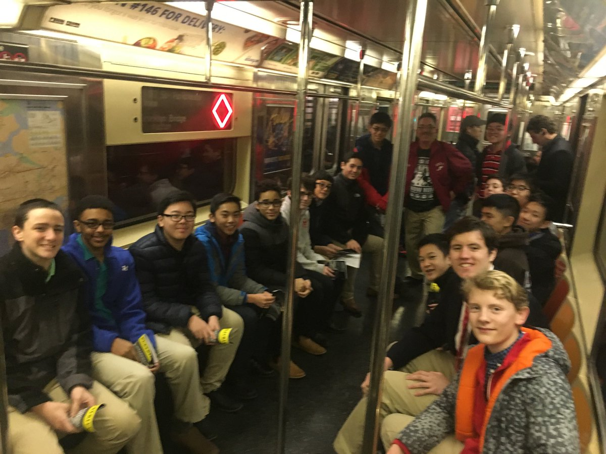 Freshmen journey back from a class trip to see A Christmas Carol!