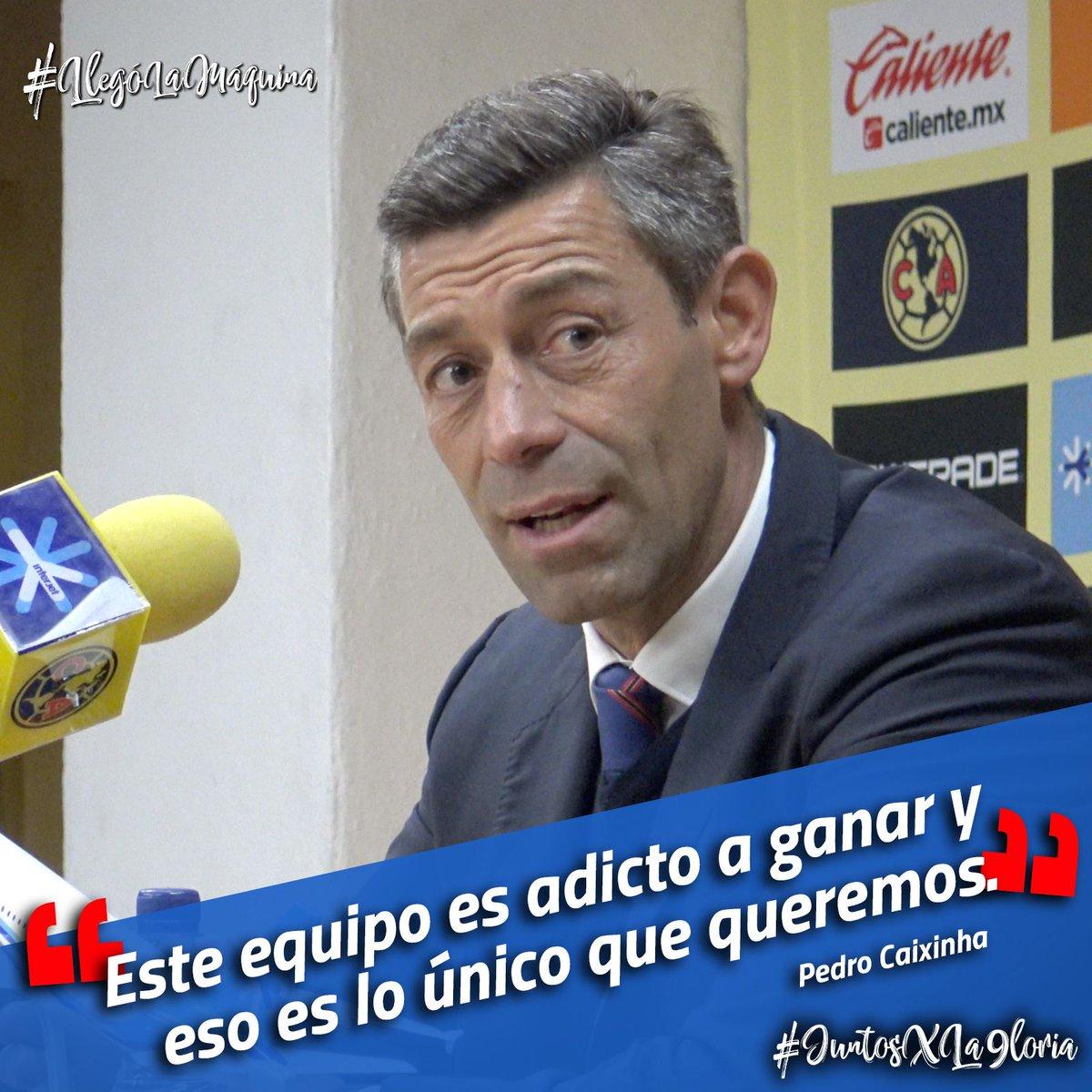 'Este equipo es adicto a ganar y eso es lo único que queremos'.-Pedro Caixinha #JuntosXLa9loria