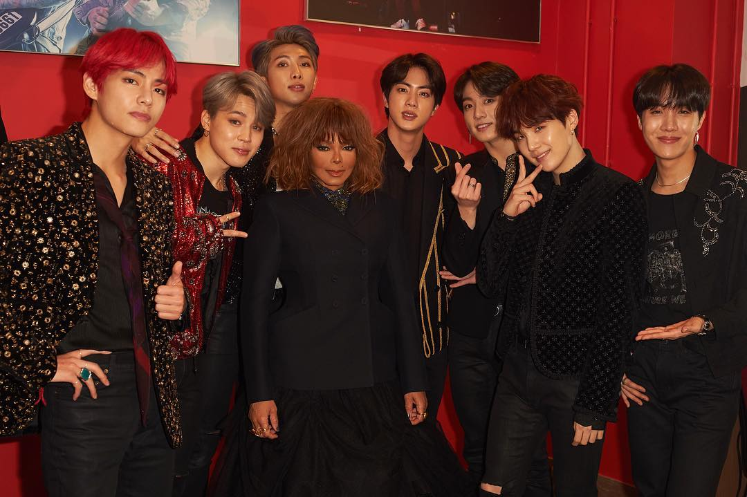 #ThankYouBTS and Janet Jackson for this iconic photo. Legends among legends. 🙌