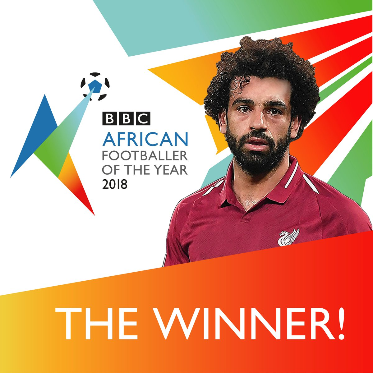 ⚡⚽ He's done it again @22mosalah!  is this year's BBC African Footballer of the Year! ⚡⚽  @LFC The  forward who also plays for Egypt's national team is #BBCAFOTY your  winner! 🇪🇬