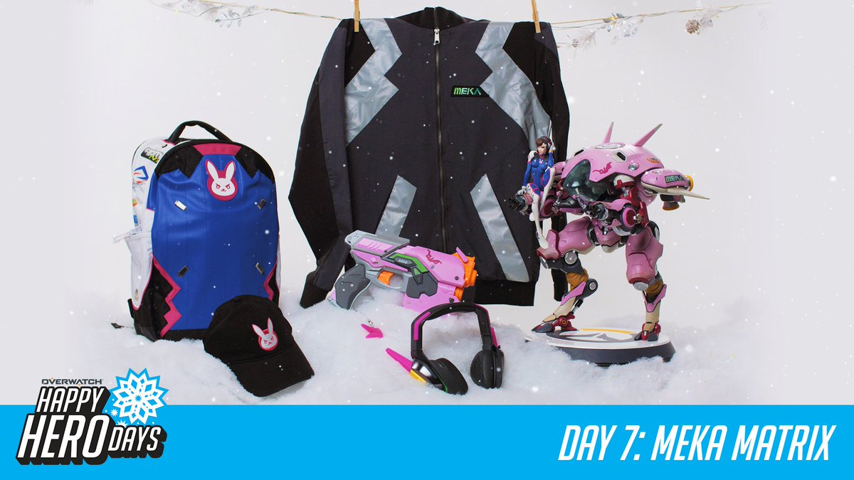 #HappyHeroDays! 12 prizes, 12 days.  Day 7: MEKA Matrix  RT for a chance to win today's prize and RT every day for a chance to win a GRAND PRIZE package from @msiUSA.  📜 http://Blizz.ly/2zPpxow