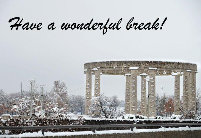 As fall semester classes at #UISedu end, we hope you have a wonderful break. Enjoy your time off and happy holidays! https://t.co/P3qW3N747E
