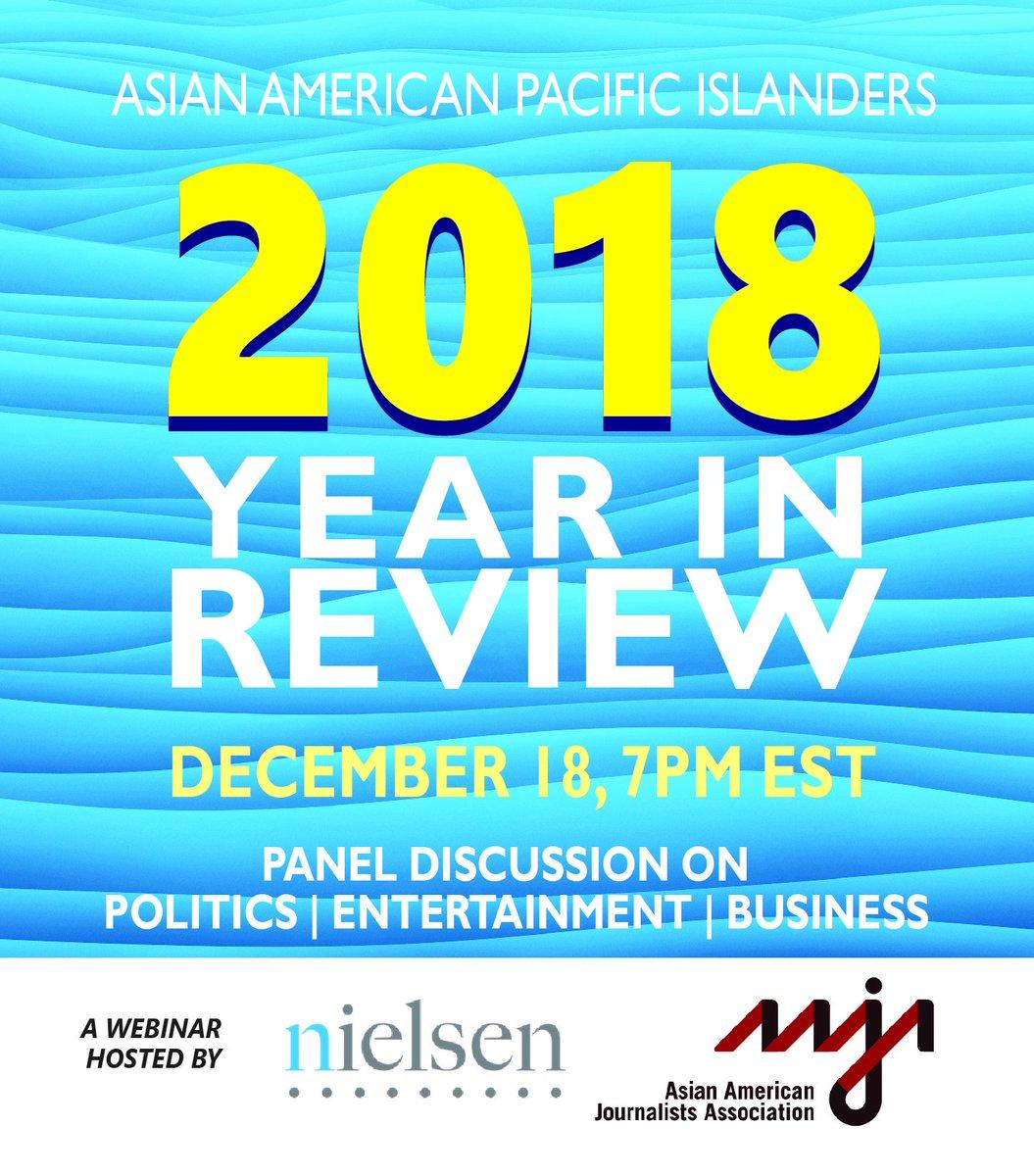 Calendar Tuesday December 18 2019 AAJA National on Twitter: