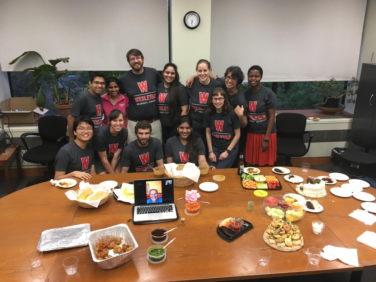 test Twitter Media - PhD students in Molecular Biology and Biochemistry (MB&B) and Molecular #Biophysics celebrated Sudipta Lahiri, PhD '19, after the successful defense of his thesis. Dr. Lahiri's research was published in Biophysical Journal this month. ⚛️ #SciFri #STEM https://t.co/D9M4zxi1ax