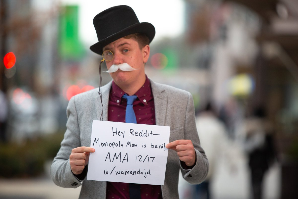 Ian Madrigal The Monopoly Man On Twitter Hey At Reddit Are You