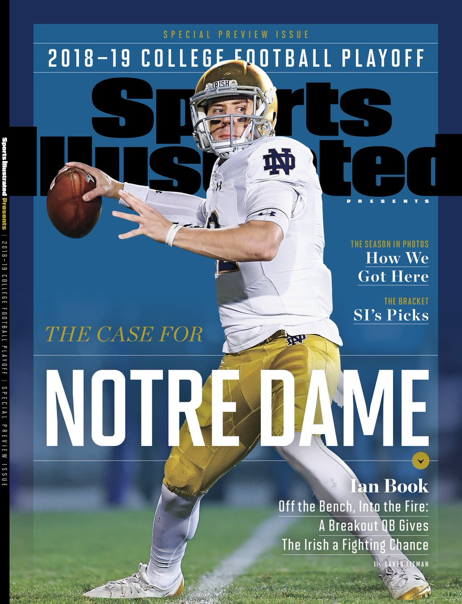 Sports Illustrated Playoff Preview Cover : notredamefootball