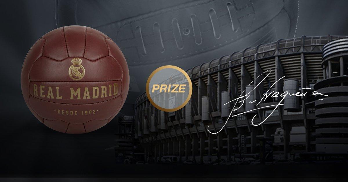 ⚽✍ Participa en nuestro quiz histórico y gana un PREMIO único: ¡El balón Crest Heritage Football firmado por @ButraguenoRM! ENTRA 👉 http://bit.ly/Quiz_ESP