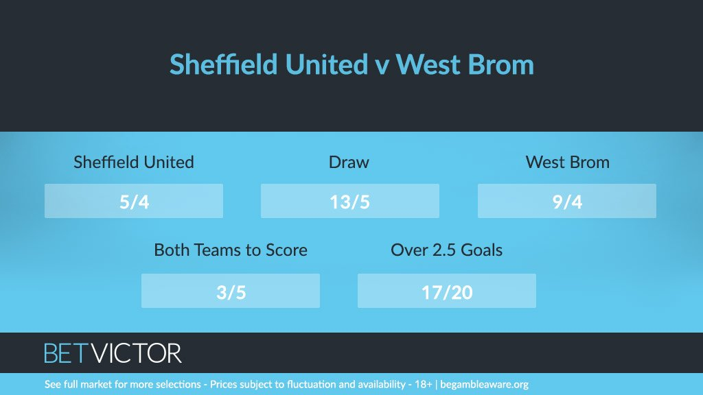 The Baggies travel to Sheffield United tonight and if recent form is anything to go by, this should be an entertaining affair...  This is how we bet for #SHUWBA 👇   📲 https://t.co/YQeMp8m0fr