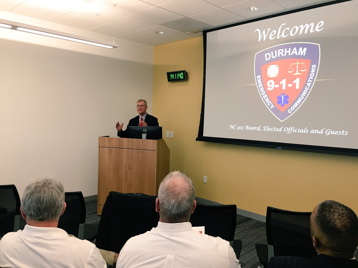 Cityofdurhamnc On Twitter Durham 911 Center Director Randy Beeman