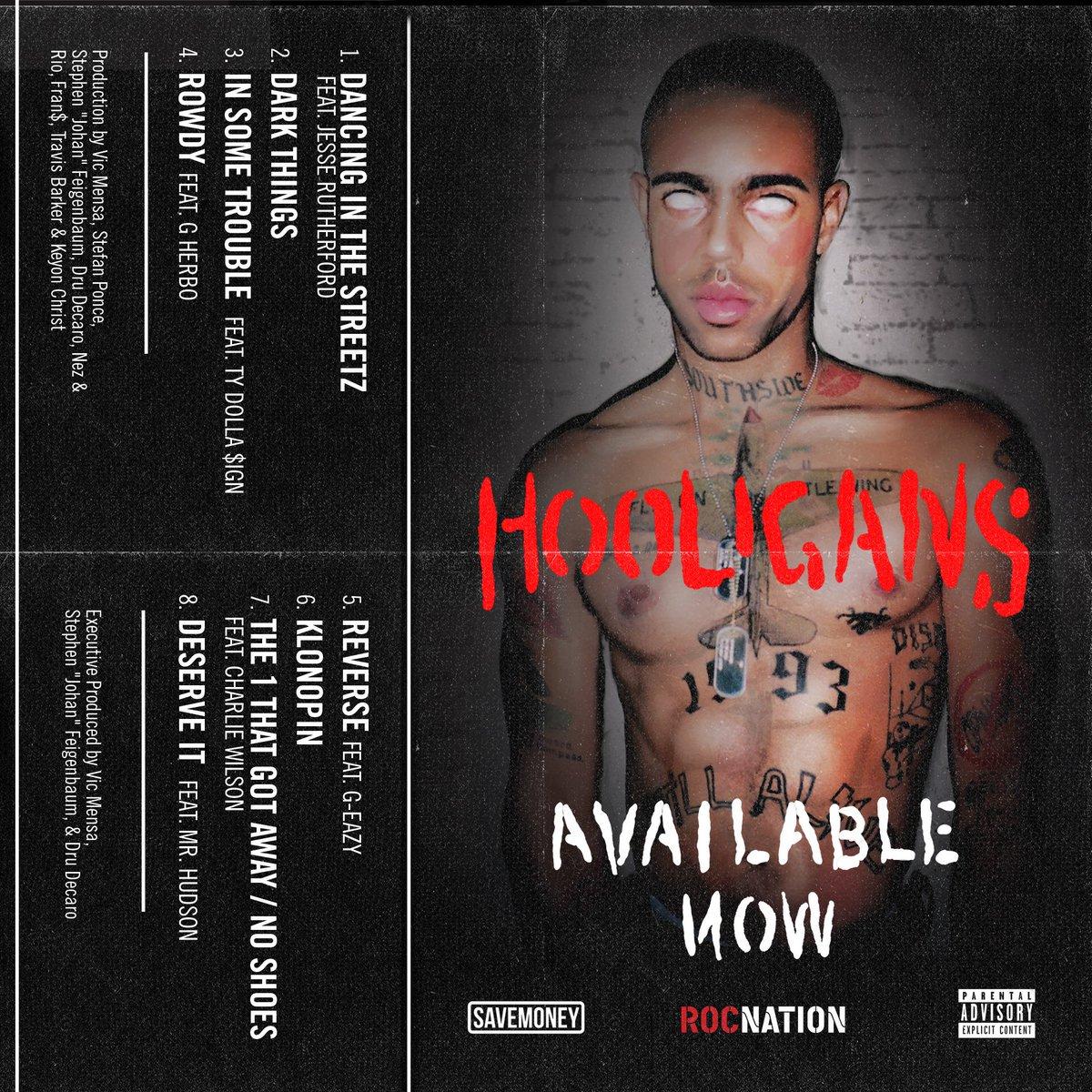 📍 @vicmensa drops new project 'HOOLIGANS' f/ @tydollasign, @G_Eazy. trib.al/zmR5SPM